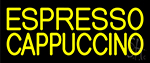 Yellow Cappuccino Espresso Neon Sign