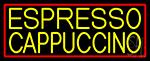 Yellow Cappuccino Espresso Neon Sign