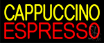 Yellow Cappuccino Red Espresso Neon Sign