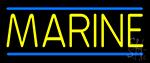 Yellow Marines Neon Sign