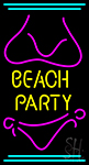 Beach Party 2 Neon Sign