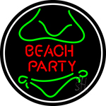 Beach Party 3 Neon Sign