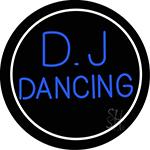 Dj Dancing Circle Neon Sign