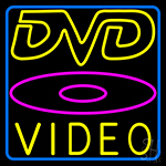 Dvd Video 2 Neon Sign