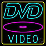 Dvd Video Dics 3 Neon Sign