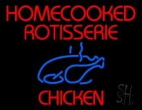 Red Homecooked Rotisserie Chicken Neon Sign