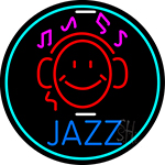 Jazz With Smiley 1 Neon Sign
