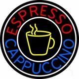 Round Cappuccino Espresso Neon Sign