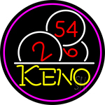 Keno With Ball 3 Neon Sign
