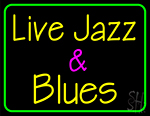 Live Jazz And Blues 1 Neon Sign