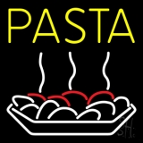 Yellow Pasta With Logo Neon Sign