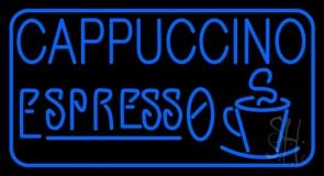 Blue Cappuccino Espresso Neon Sign