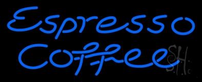 Blue Espresso Coffee Neon Sign