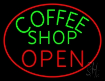 Coffee Shop Open Neon Sign