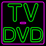 Tv Dvd 2 Neon Sign