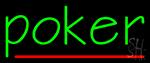 Vertical Poker 1 Neon Sign