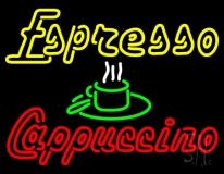 Double Stroke Espresso Cappuccino LED Neon Sign