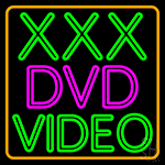 Xxx Dvd Video 1 Neon Sign