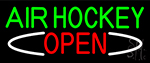 Air Hockey Open Neon Sign