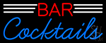 Bar Cocktails Neon Sign