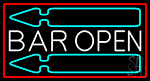 Bar Open With Arrow Neon Sign