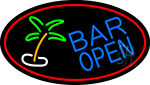 Bar Open With Two Palm Trees LED Neon Sign