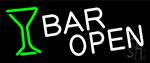 Bar Open With Wine Glass Neon Sign
