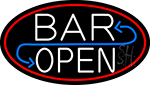 Bar Reverse Open Neon Sign