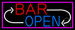 Bar Reverse Open LED Neon Sign