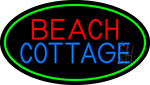 Beach Cottage With Green Border Neon Sign