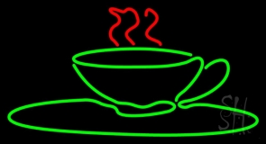 Green Coffee Glass LED Neon Sign