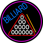 Billiard Oval With Pink Border Neon Sign