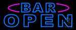 Blue Bar Open Double Stroke Neon Sign