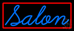 Blue Cursive Salon Neon Sign