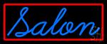 Blue Cursive Salon Neon Sign