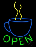 Open Coffee LED Neon Sign