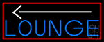 Blue Lounge And Arrow With Red Border Neon Sign