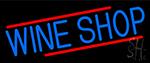 Blue Wine Shop Neon Sign