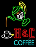Pouring Hot Coffee In Cup LED Neon Sign