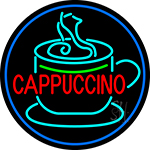 Cappuccino Inside Cup Neon Sign
