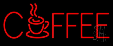 Red Coffee Mug LED Neon Sign