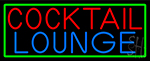 Cocktail Lounge With Green Border LED Neon Sign