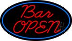 Cursive Bar Open Neon Sign