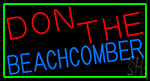 Don The Beachcomber With Green Border Neon Sign