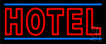 Double Stroke Red Hotel Neon Sign