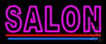 Double Stroke Salon Neon Sign