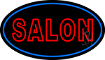Double Stroke Salon Neon Sign