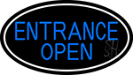 Entrance Open Oval With White Border Neon Sign