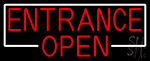 Entrance Red Open Neon Sign