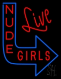 Live Nude Girls Neon Flex Sign